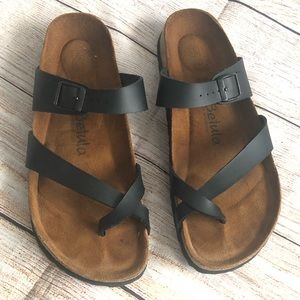 Betula sandals leather size 41 black as brown